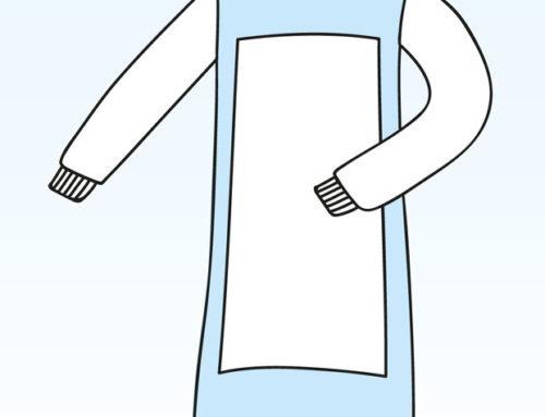 Halat chirurgical căptușit, SMS